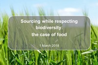 "Conference ""Sourcing while respecting biodiversity: the case of food"""